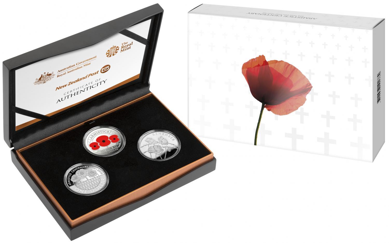 Thumbnail for 2018 Armistice 3 Coin Proof Set - Australia, New Zealand and United Kingdom