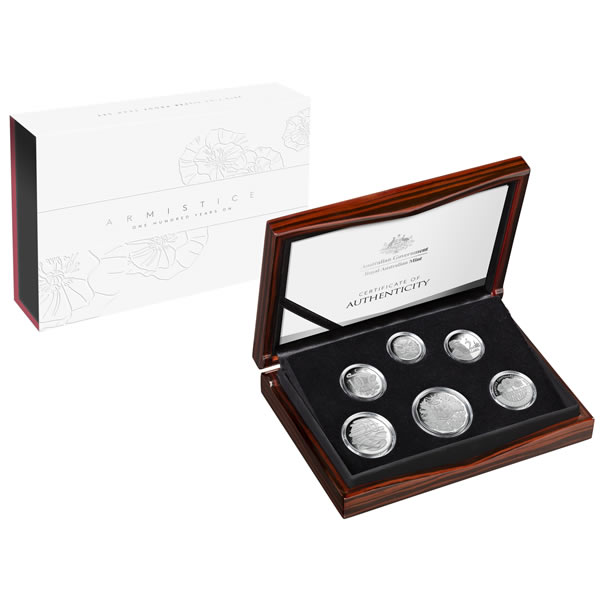 Thumbnail for 2018 Australian Fine Silver Proof Set - Armistice 100 Years On
