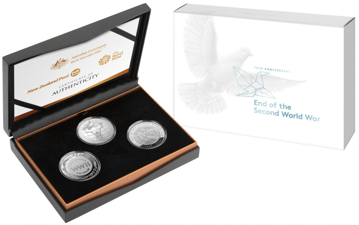 Thumbnail for 2020 Three Coin Silver Proof Set - 75th Anniversary of the end of World War II