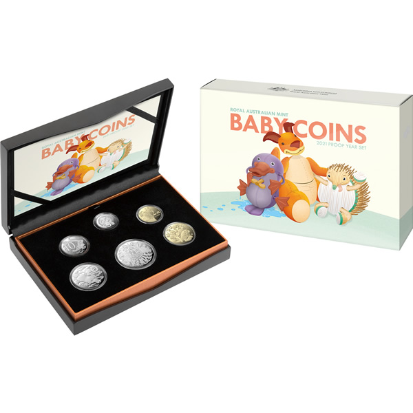 Thumbnail for 2021 Six Coin Baby Proof Set