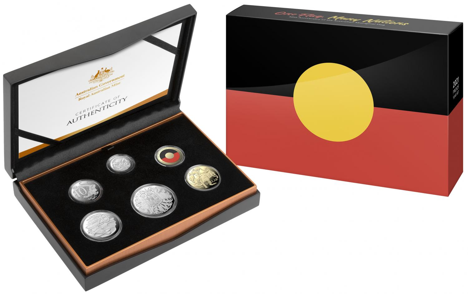 Thumbnail for 2021 Six Coin Proof Year Set - 50th Anniversary of the Australian Aboriginal Flag