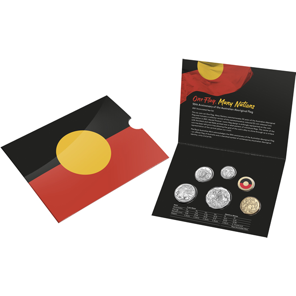 Thumbnail for 2021 Six Coin Uncirculated year Set - 50th Anniversary of the Australian Aboriginal Flag - In Stock Now