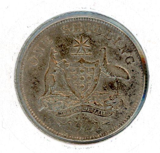 Thumbnail for 1921* Australian Shilling gF