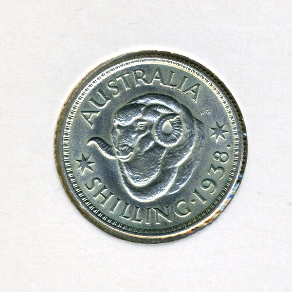 Thumbnail for 1938 Australian Shilling - gEF