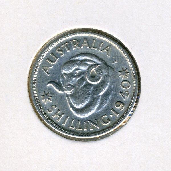 Thumbnail for 1940 Australian Shilling - VF