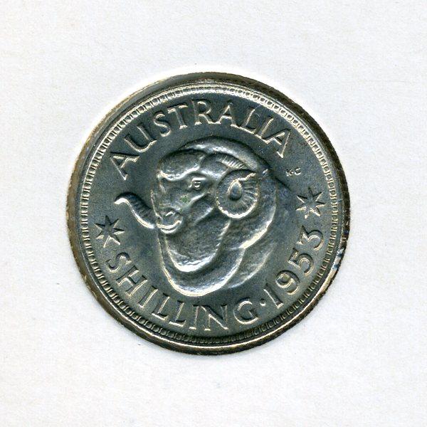 Thumbnail for 1953 Australian Shilling - aUNC