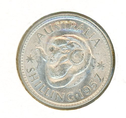 Thumbnail for 1957 Shilling UNC