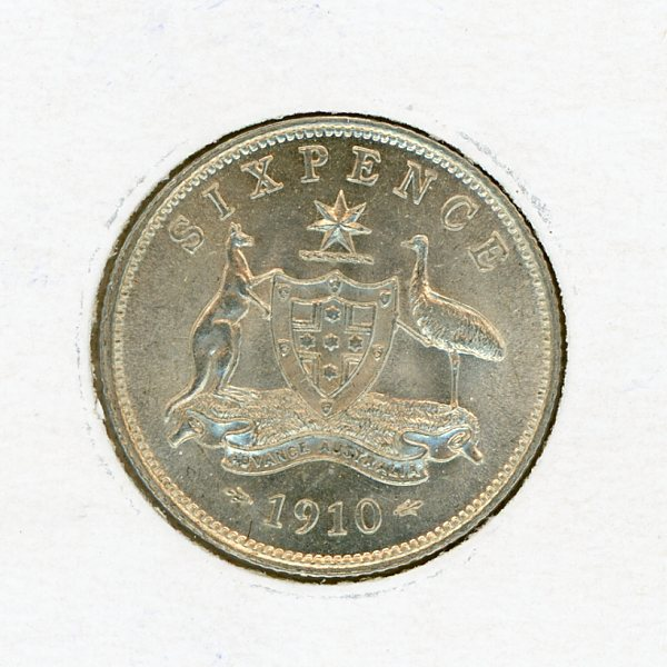Thumbnail for 1910 Sixpence Uncirculated