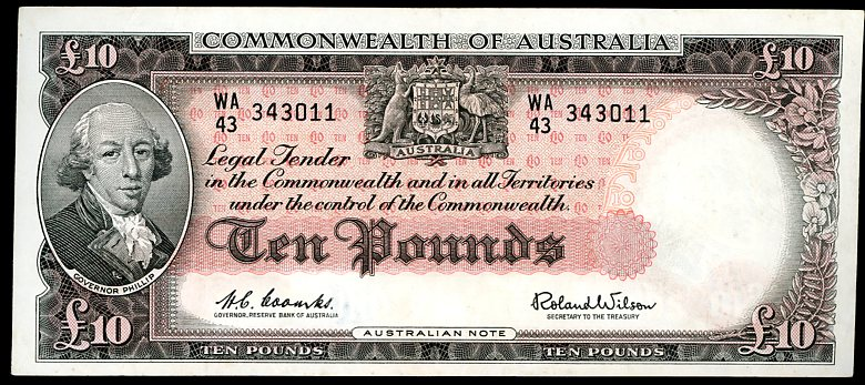 Thumbnail for 1960 Ten Pound Note Coombs- Wilson WA43 343011 EF