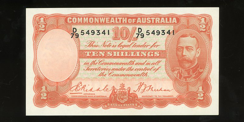 Thumbnail for 1936 Ten Shillings D79 549341 gEF