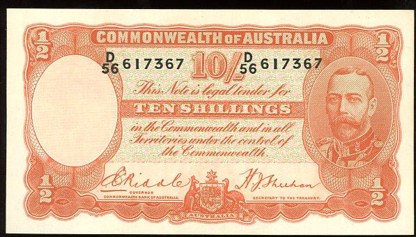 Thumbnail for 1936 Ten Shillings D56 617367 gEF