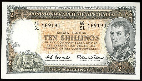 Thumbnail for 1961 Ten Shillings AG51 169190 gEF
