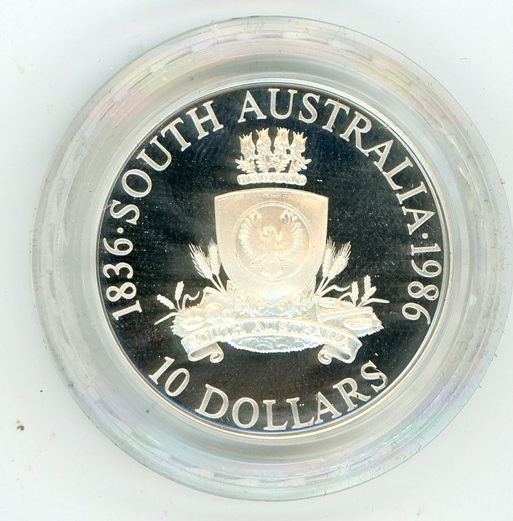 Thumbnail for 1986 $10 Proof Coin State Series - South Australia