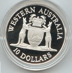 Thumbnail for 1990 State Series Proof $10 - Western Australia