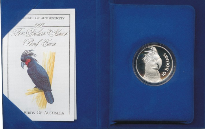 Thumbnail for 1993 Birds of Australia $10 Proof - Palm Cockatoo