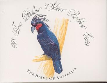Thumbnail for 1993 Birds of Australia Piedfort $10 Proof - Palm Cockatoo