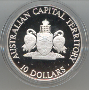 Thumbnail for 1993 State Series Proof $10 - Australian Capital Territory