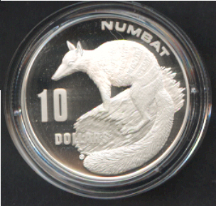 Thumbnail for 1995 Endangered Species Proof $10 - Numbat