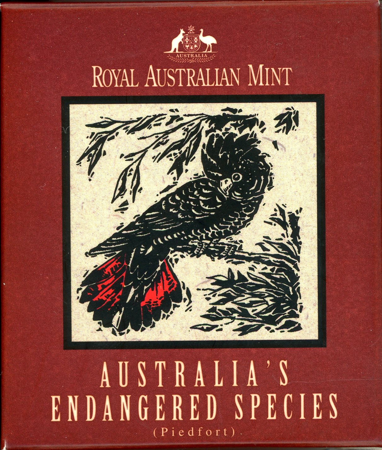 Thumbnail for 1997 Endangered Species $10 Silver Piedfort - Southen Red Tailed Black Cockatoo