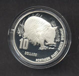 Thumbnail for 1998 Endangered Species $10.00 Silver Proof - Northern Hairy-Nosed Wombat