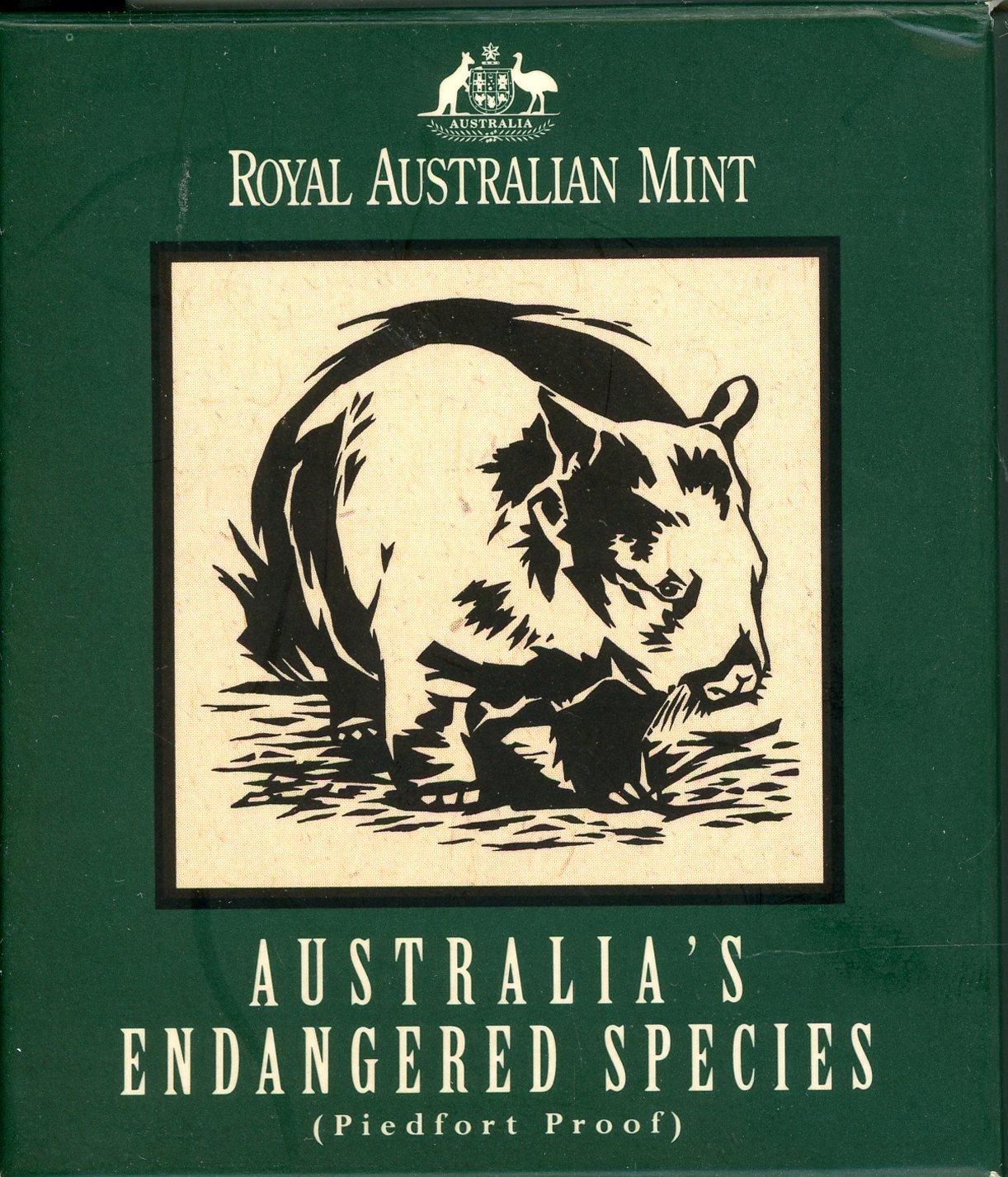 Thumbnail for 1998 $10 Silver Piedfort - Northern Hairy-Nosed Wombat