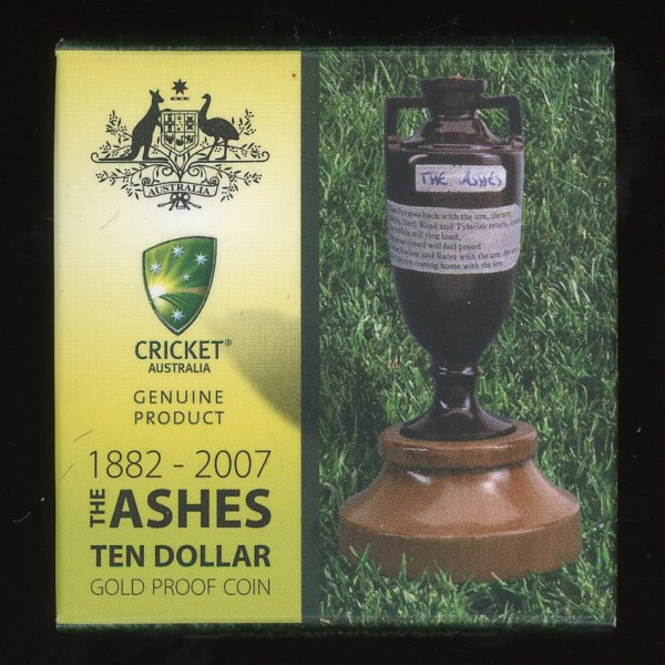 Thumbnail for 2007 The Ashes $10.00 Gold Proof