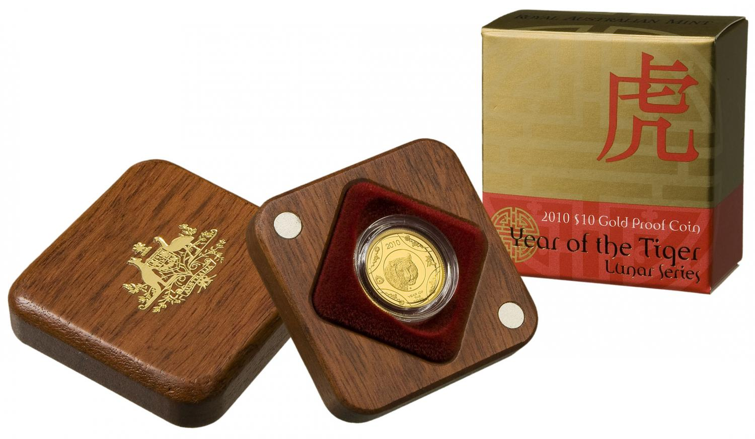 Thumbnail for 2010 Lunar Year of the Tiger $10.00 Gold Proof