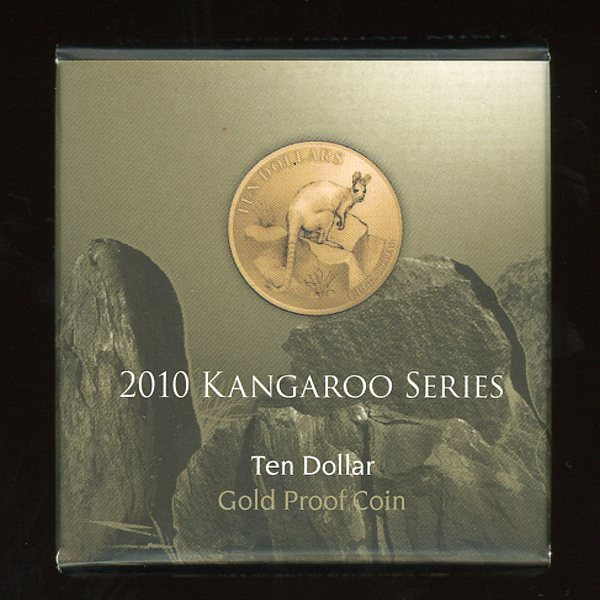 Thumbnail for 2010 Kangaroo Series Yellow Footed Rock Wallaby $10 Gold Proof