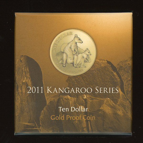 Thumbnail for 2011 Kangaroo Series Allied Rock Wallaby $10 Gold Proof