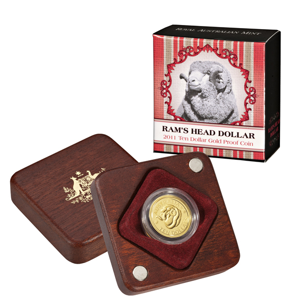 Thumbnail for 2011 Rams Head $10.00 Gold Proof