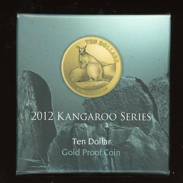Thumbnail for 2012 Kangaroo Series Mareeba Rock Wallaby $10 Gold Proof