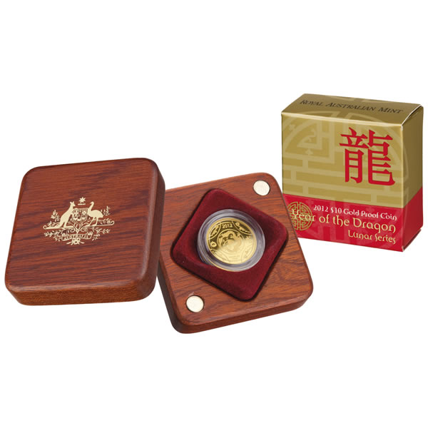 Thumbnail for 2012 Lunar Year of the Dragon $10.00 Gold Proof