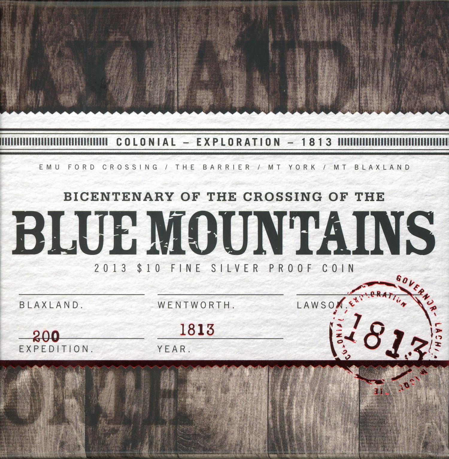 Thumbnail for 2013 Bi-Centenary of the Crossing of the Blue Mountains $10 Silver Proof Coin