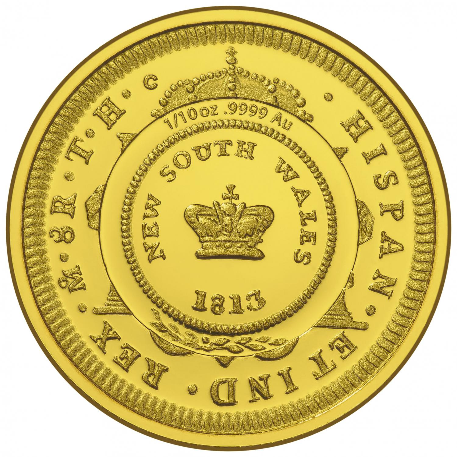 Thumbnail for 2013 Bicentenary of the Holy Dollar & Dump $10 Gold Proof Coin