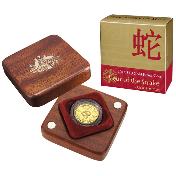 Thumbnail for 2013 Lunar Year of the Snake $10.00 Gold Proof