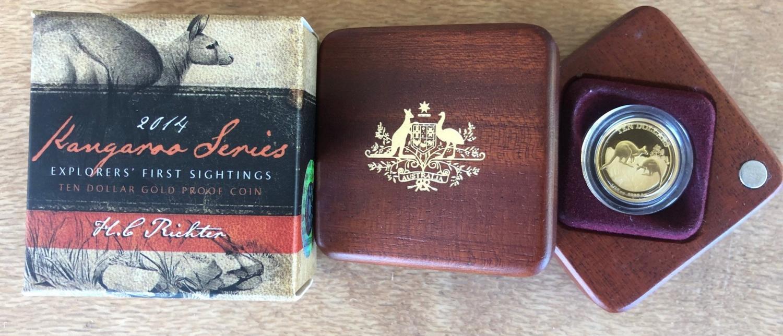 Thumbnail for 2014 Kangaroo Series First Sightings $10.00 Gold Proof