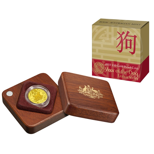 Thumbnail for 2018 Lunar Year of the Dog $10.00 Gold Proof