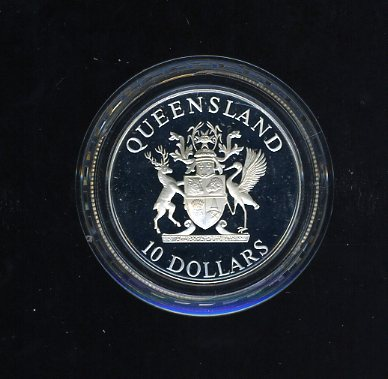 Thumbnail for 1989 State Series Proof $10 - Queensland