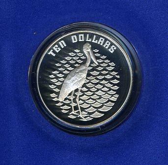 Thumbnail for 1991 Birds of Australia $10 Proof - Jabiru