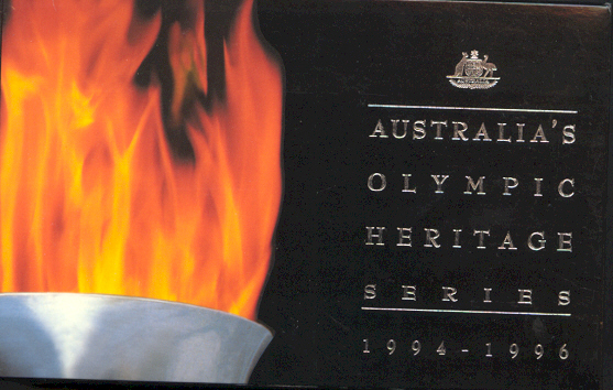 Thumbnail for 1994-1996 Olympic Heritage 6 Coin Silver Set of Ten Dollar Coins