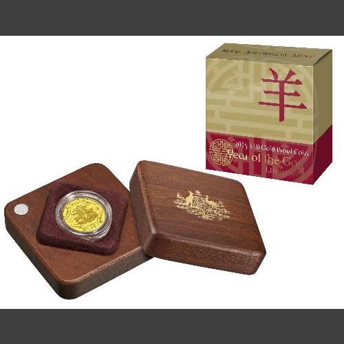 Thumbnail for 2015 Lunar Year of the Goat $10.00 Gold Proof