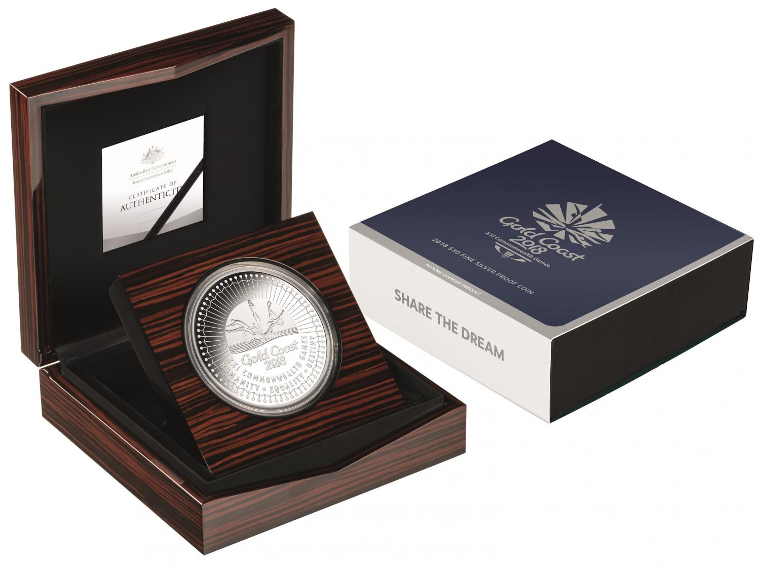Thumbnail for 2018 $30.00 Silver Proof Gold Coast Commonwealth Games - Mintage of only 70