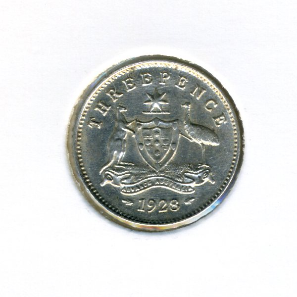 Thumbnail for 1928 Australian Threepence - EF