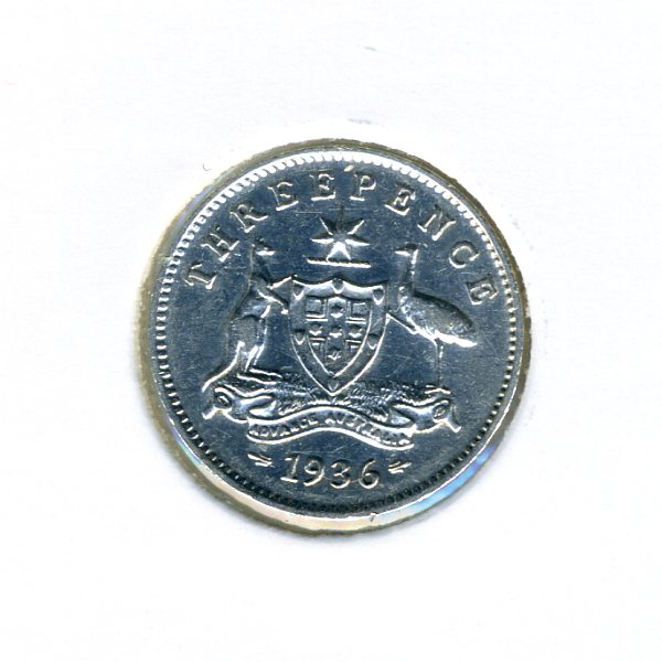 Thumbnail for 1936 Australian Threepence - VF