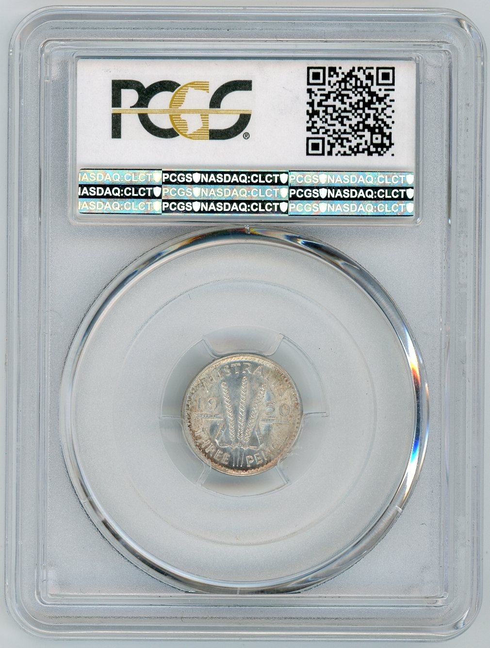 Thumbnail for 1950M Australian Threepence Slabbed PCGS MS63