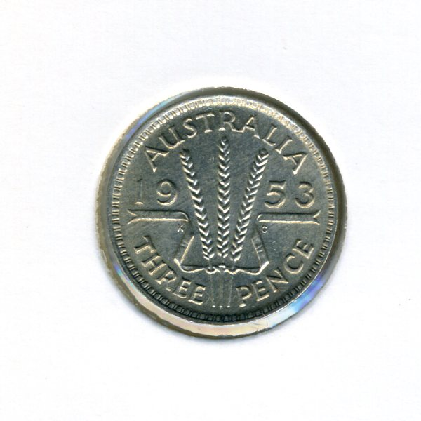 Thumbnail for 1953 Australian Threepence - aUNC
