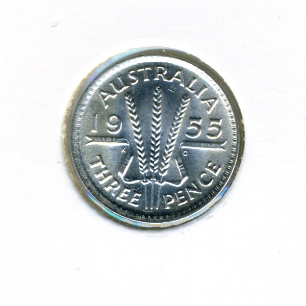 Thumbnail for 1955 Australian Threepence - aUNC