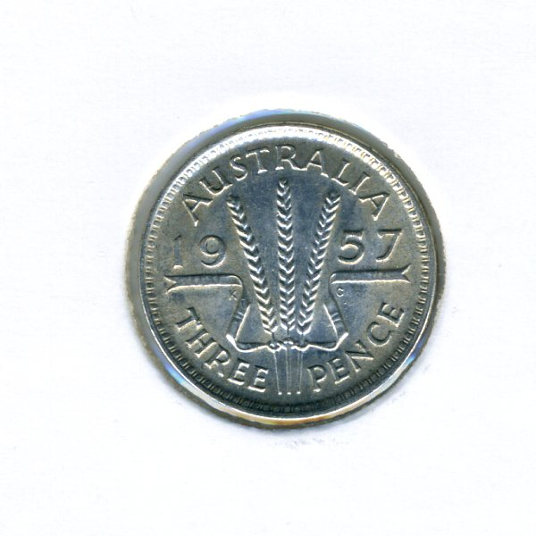 Thumbnail for 1957 Australian Threepence - aUNC
