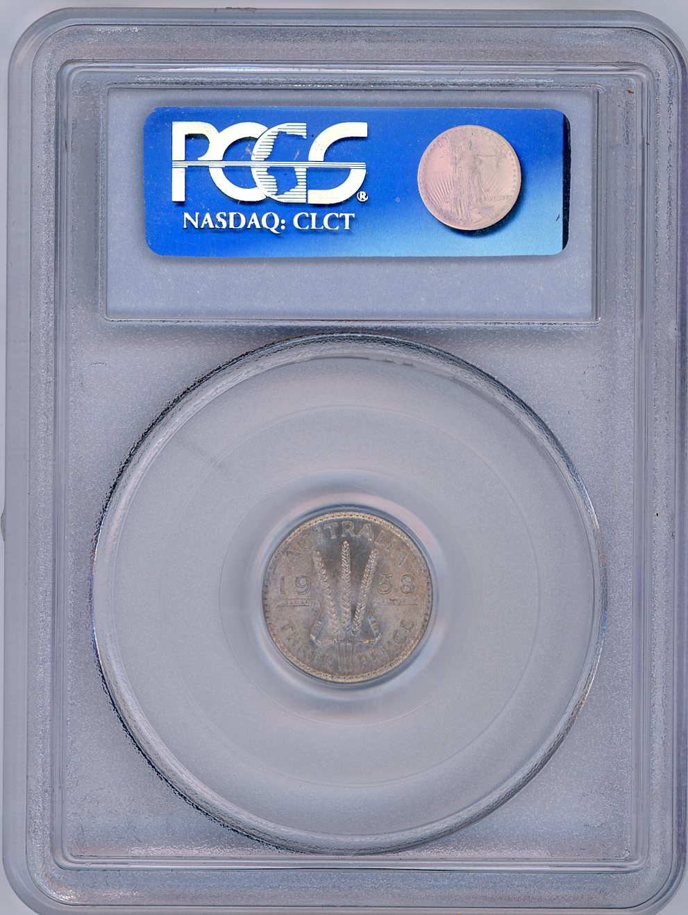 Thumbnail for 1958 Australian Threepence Slabbed PCGS MS64