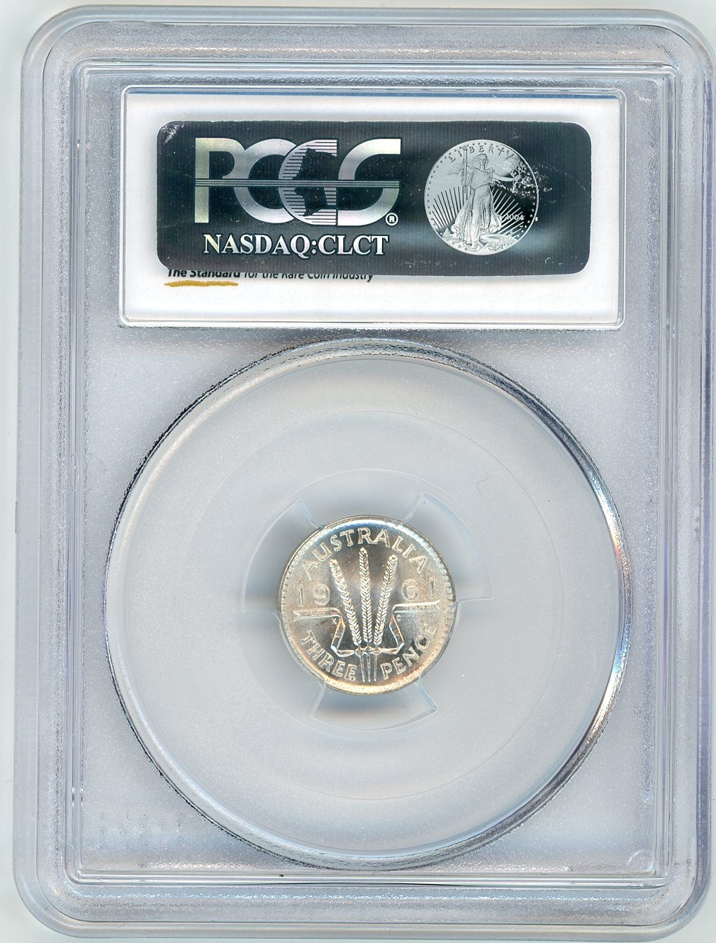 Thumbnail for 1961 Australian Threepence Slabbed PCGS MS66